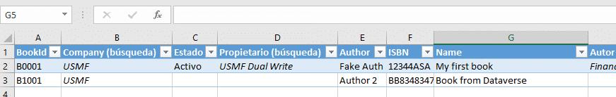 Dataverse Excel add-in